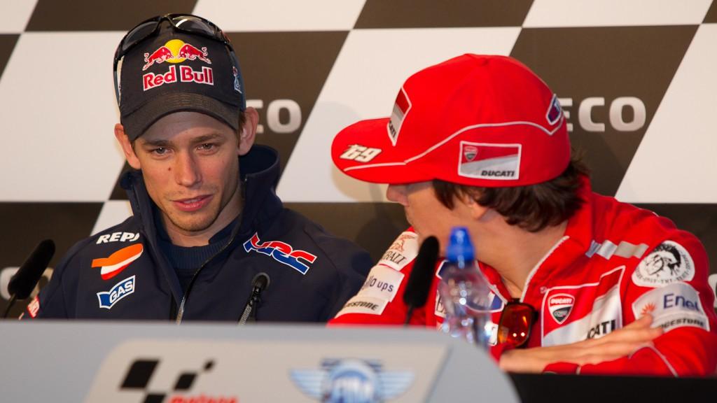 Casey Stoner, Nicky Hayden, Repsol Honda Team, Ducati Team, Iveco TT Assen Press Conference