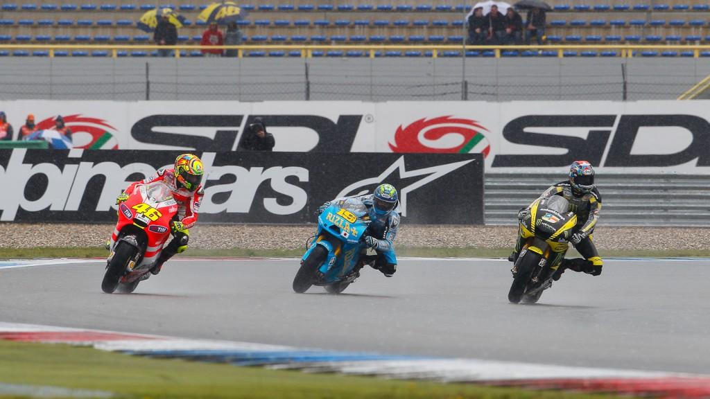 Valentino Rossi, Alvaro Bautista, Colin Edwards, Ducati Team, Rizla Suzuki MotoGP, Monster Yamaha Tech 3, Assen FP1