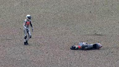 Assen 2011 - 125cc - FP1 - Action - Niklas Ajo - Crash