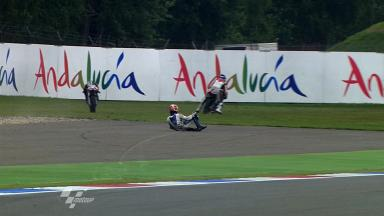 Assen 2011 - 125cc - FP1 - Action - Multiple Crash