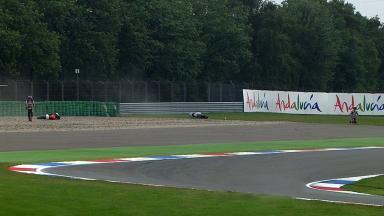 Assen 2011 - 125cc - FP1 - Action - Danny Webb & Josep Rodríguez - Crash