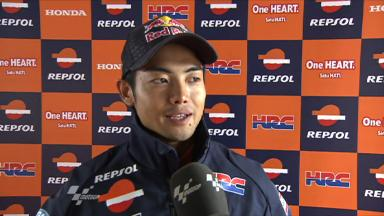 Aoyama reacts to first Repsol Honda contact