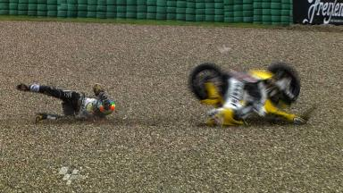 Assen 2011 - Moto2 - FP1 - Action - Alex De Angelis - Crash