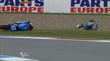 Assen 2011 - Moto2 - FP1 - Action - Pol Espargaró - Crash