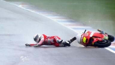 Assen 2011 - Moto2 - FP1 - Action - Elena Rosell - Crash