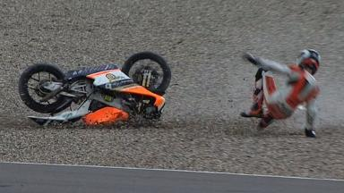 Assen 2011 - 125cc - QP - Action - Bryan Schouten - Crash