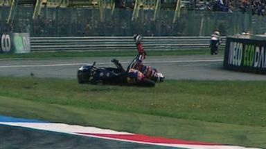 Assen 2011 - 125cc - QP - Action - Jonas Folger - Crash