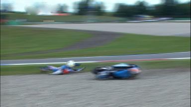 Assen 2011 - 125cc - FP2 - Action - Van Leeuwen - Crash