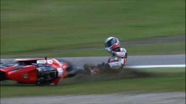 Assen 2011 - 125cc - FP2 - Action - Rodriguez - Crash