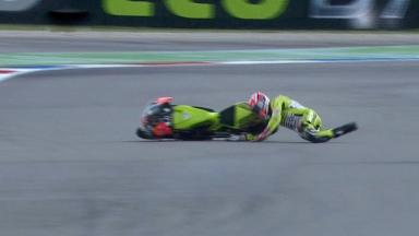 Assen 2011 - 125cc - FP2 - Action - Nico Terol - Crash