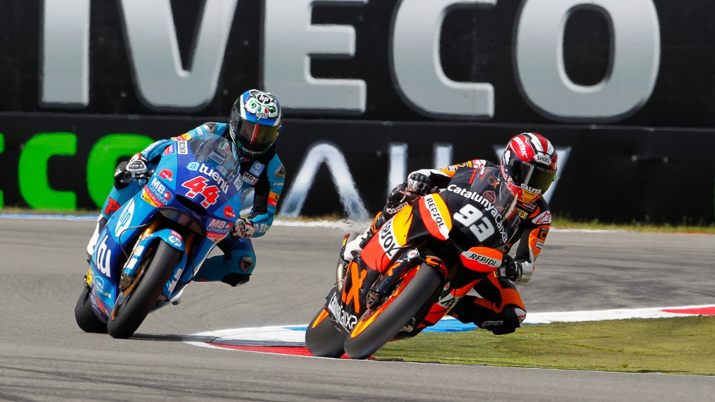 Marc Marquez, Pol Espargaro, Team Catalunya Repsol, HP Tuenti Speed Up, Assen QP