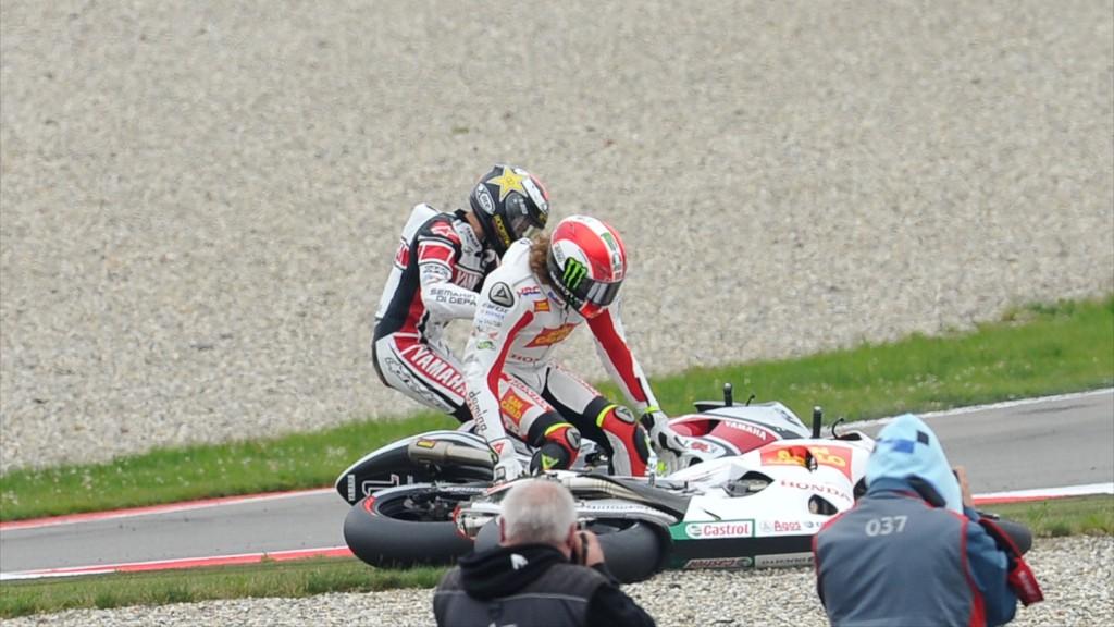 Jorge Lorenzo, Marco Simoncelli, Yamaha Factory Racing, San Carlo Honda Gresini, Assen RAC