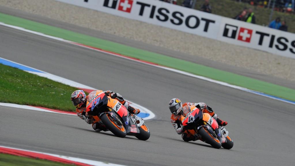 Casey Stoner, Andrea Dovizioso, Repsol Honda Team, Assen RAC