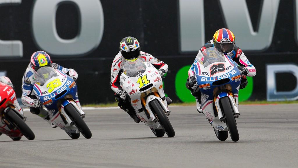Maverick Viñales, Sandro Cortese, Sergio Gadea, Pev-Blusens-SMX-Paris Hilton, Intact-Racing Team Germany, Assen RAC