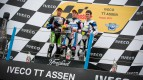 Luis Salom, Maverick Viñales, Sergio Gadea, RW Racing GP, Blusens by Paris Hilton Racing, Assen RAC