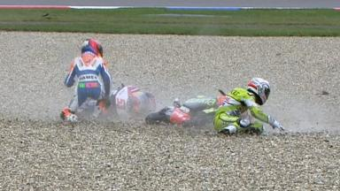 Assen 2011 - 125cc - Race - Action - Martin and Iwema - Crash