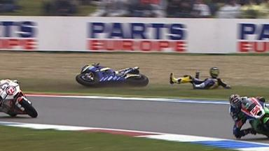 Assen 2011 - Moto2 - Race - Action - Mike Di Meglio - Crash