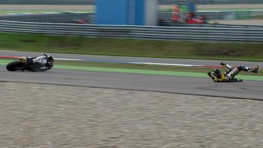 Assen 2011 - Moto2 - Warm Up - Action - Scott Redding - Crash