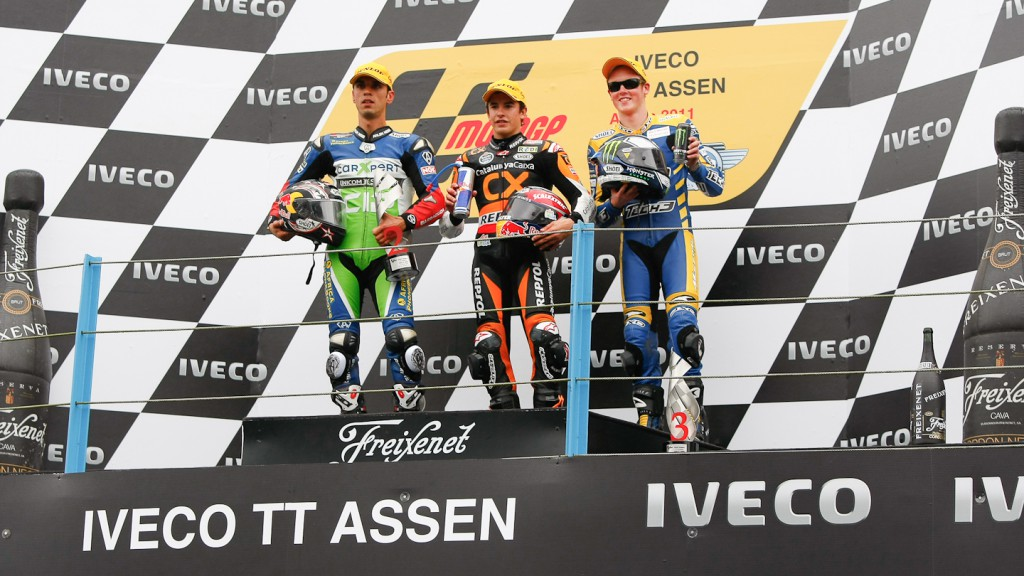 Kenan Sofuoglu, Marquez, Smith, Technomag-CIP, Team CatalunyaCaixa Repsol, Tech 3 Racing, Assen RAC