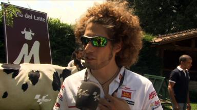 Simoncelli enjoys Mugello pre-event
