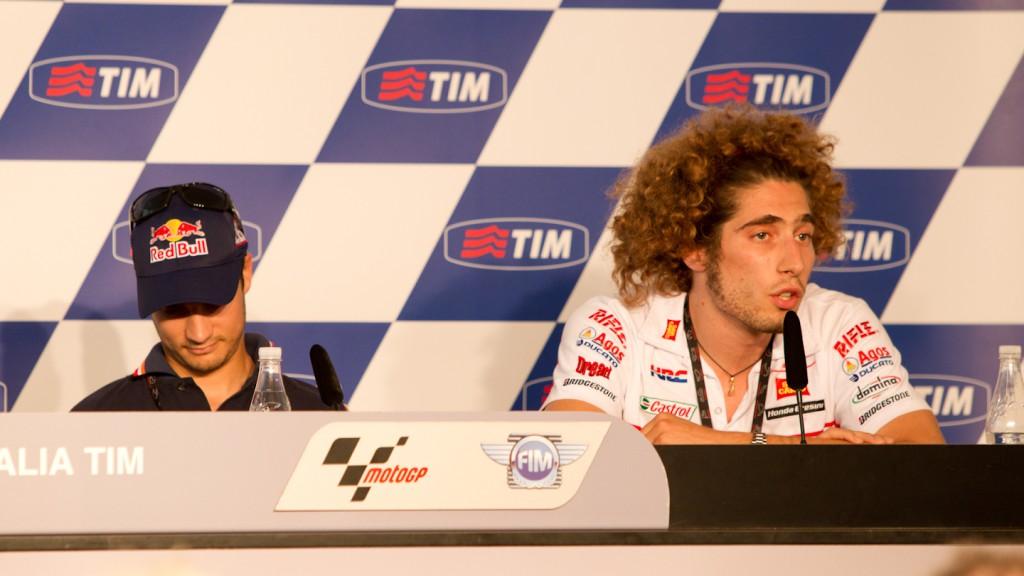 Dani Pedrosa, Marco Simoncelli, Repsol Honda Team, San Carlo Honda Gresini, Gran Premio D`Italia TIM