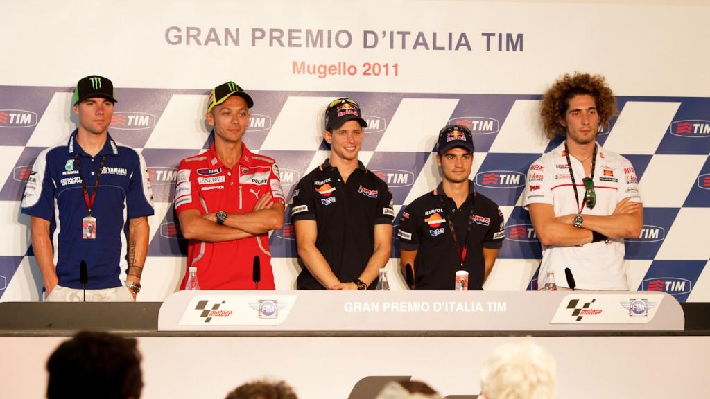 Ben Spies, Valentino Rossi, Casey Stoner, Dani Pedrosa, Marco Simoncelli, Gran Premio D´Italia TIM