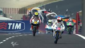 Sergio Gadea rose to the top early in the rain slowed FP2, pursued by Sandro Cortese and Danny Webb.