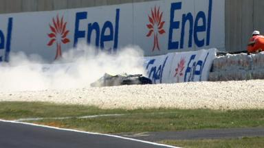 Mugello 2011 - Moto2 - FP1 - Action - Bradley Smith - Crash