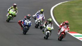 Casey Stoner put in a blistering fast lap to grab pole position for the start of the Gran Premio d'Italia TIM race at Mugello, his 27th pole position in the premier class. American Ben Spies and Marco Simoncelli will join the Australian on the front row.