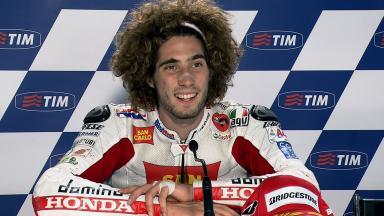 Mugello 2011 - MotoGP - QP - Interview - Marco Simoncelli
