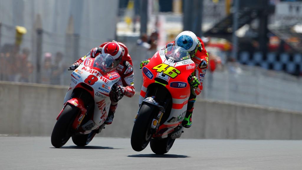Valentino Rossi, Hector Barberá, Ducati Team, Mapfre Aspar Team, Mugello RAC