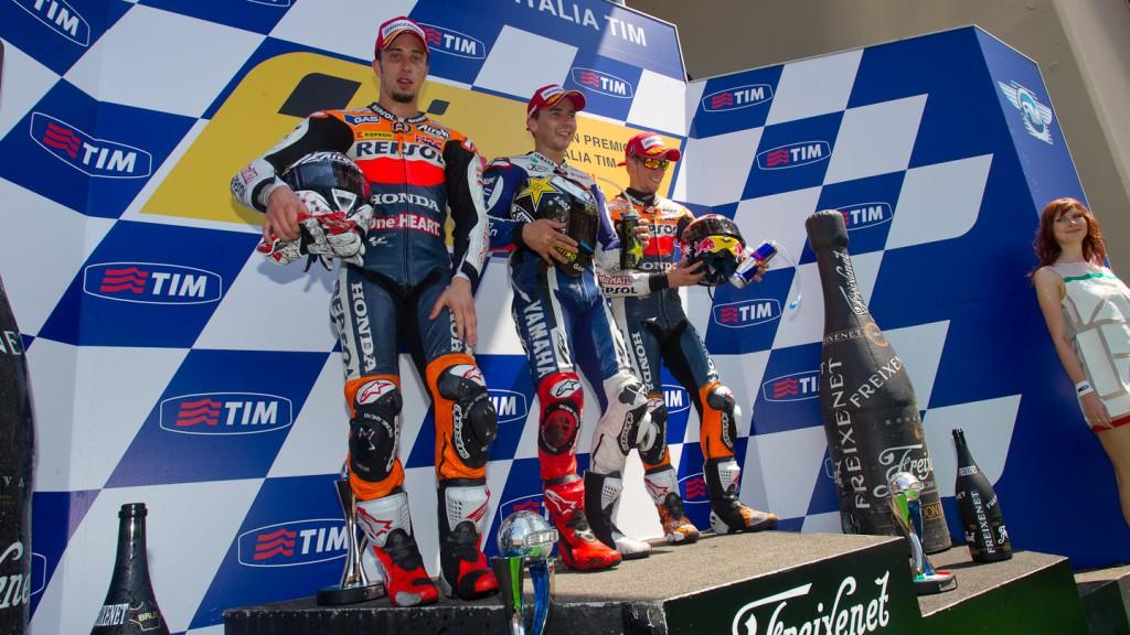Andrea Dovizioso, Jorge Lorenzo, Casey Stoner, Repsol Honda, Yamaha Factory Racing, Mugello RAC