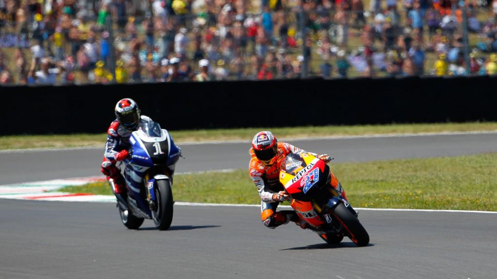 Casey Stoner, Jorge Lorenzo, Repsol Honda Team, Yamaha Factory Racing, Mugello RAC