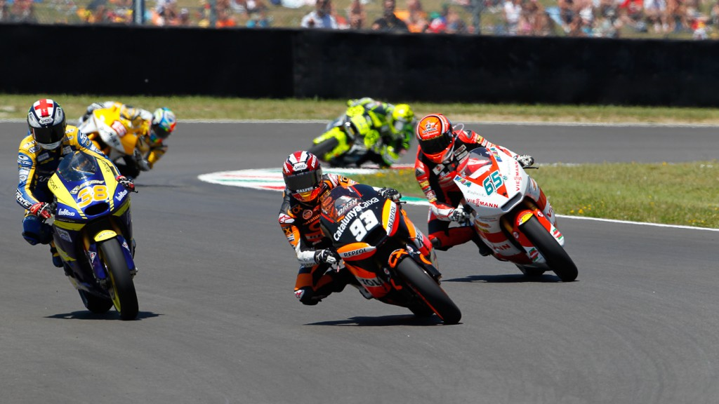 Marc Marquez, Stefan Bradl, Bradley Smith, Team CatalunyaCaixa Repsol, Viessmann Kiefer Racing, Tech 3 Racing, Mugello RAC