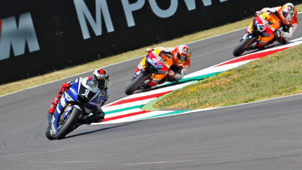 Jorge Lorenzo, Andrea Dovizioso, Casey Stoner, Yamaha Factory Racing, Repsol Honda Team, Mugello RAC