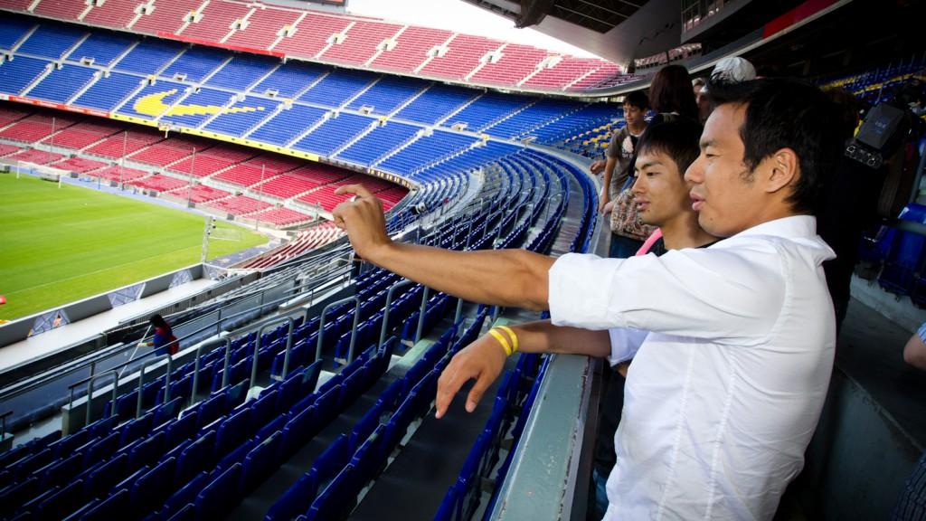 Hiroshi Aoyama, Sakon Yamamoto, Camp Nou, Barcelona