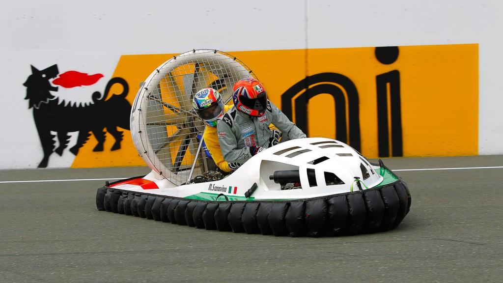 Alex de Angelis, JiR Moto2, Sachsenring, Hovercrafts Preevent