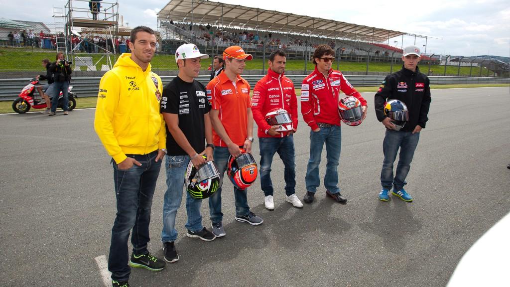 Michele Scanavino, Hayden, Cortese, Bradl, De Angelis, Folger, Barbera, Klaus Bönighausen, Sachsenring