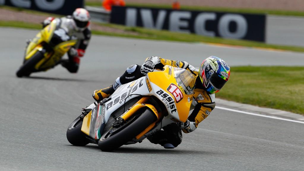 Alex de Angelis, JiR Moto2, Sachsenring FP1
