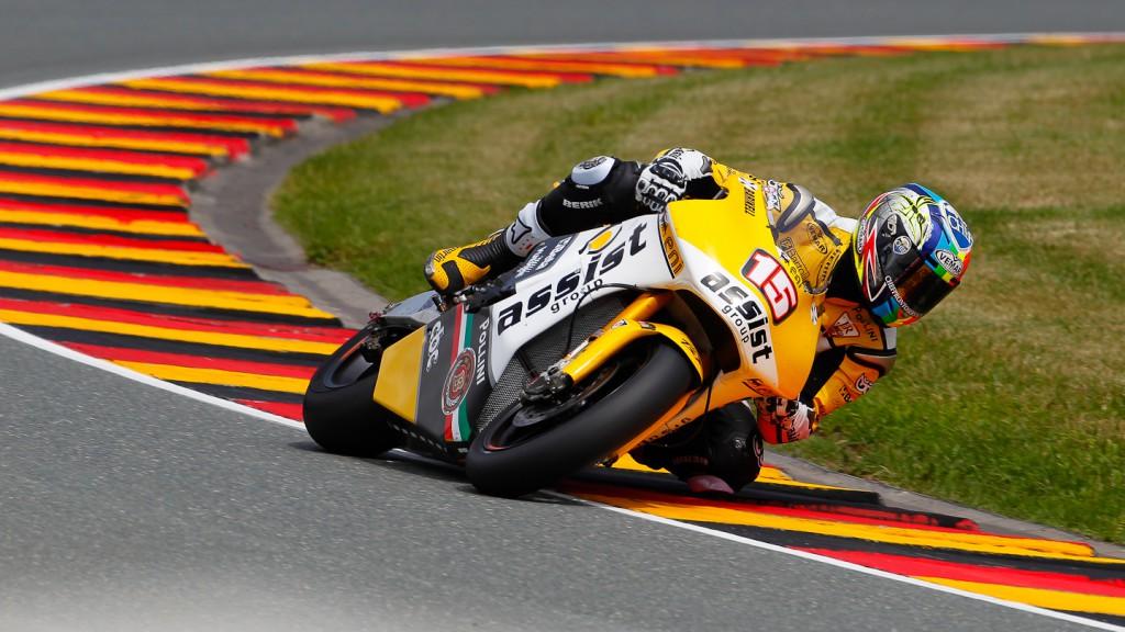 Alex de Angelis, JiR Moto2, Sachsenring FP2