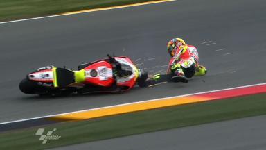 Sachsenring 2011 - MotoGP - FP1 - Action - Valentino Rossi - Crash