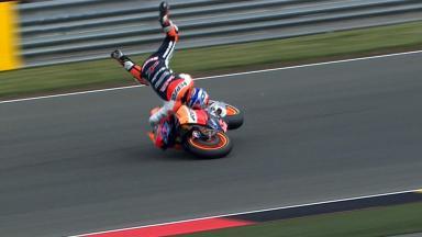 Sachsenring 2011 - MotoGP - FP1 - Action - Casey Stoner - Crash