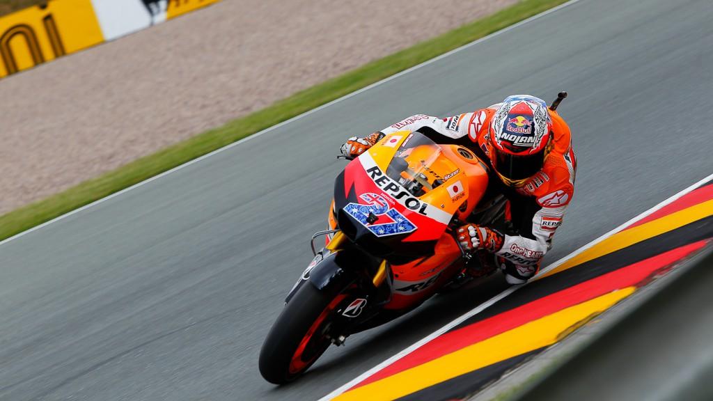 Casey Stoner, Repsol Honda Team, Sachsenring FP1