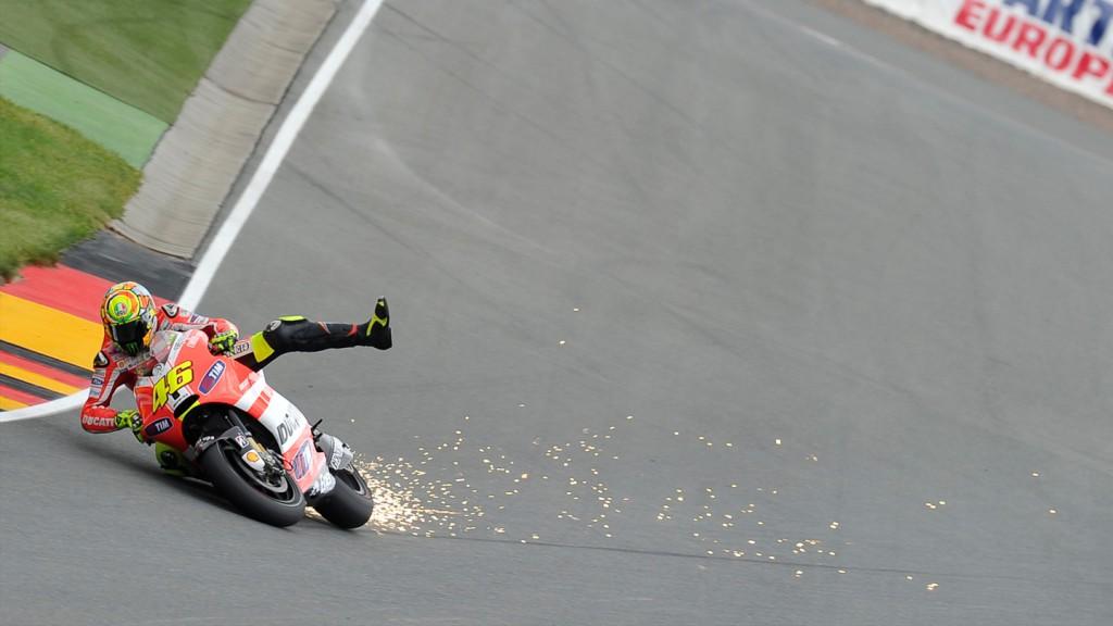 Valentino Rossi, Ducati Team, Sachsenring FP1
