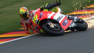 Valentino Rossi, FP1 crash