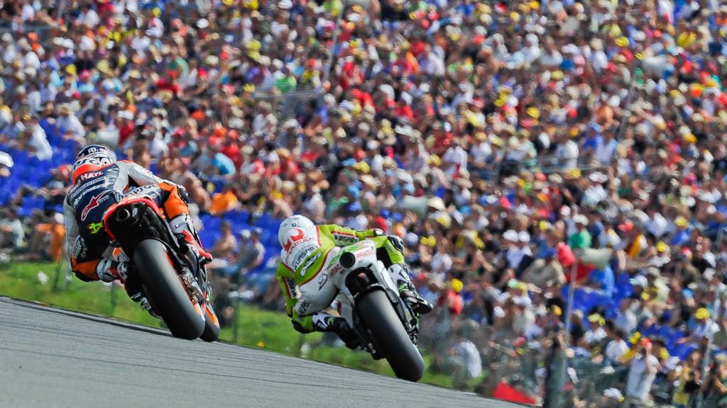 Andrea Dovizioso, Sylvain Guintoli, Repsol Honda Team, Pramac Racing Team, Sachsenring QP