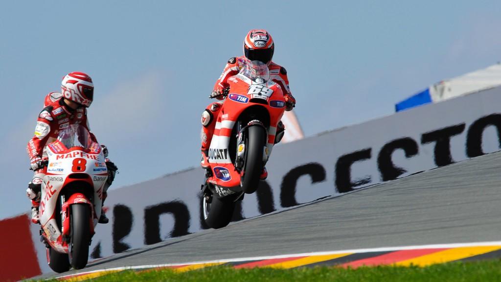 Nicky Hayden, Hector Barbera, Ducati Team, Mapfre Aspar team MotoGP, Sachsenring QP
