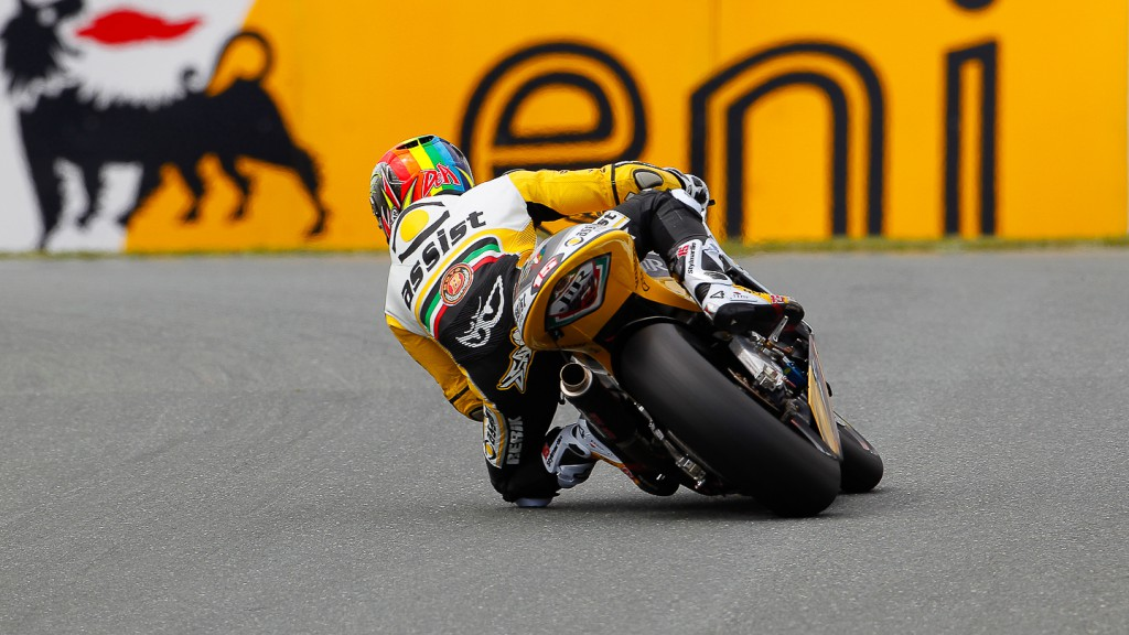 Alex de Angelis, JiR Moto2, Sachsenring FP3