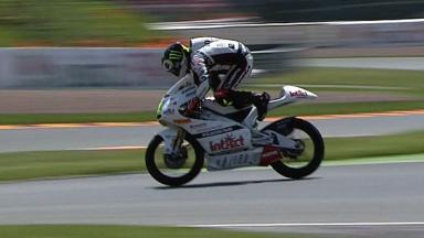 Sachsenring 2011 - 125cc - QP - Sandro Cortese - Crash