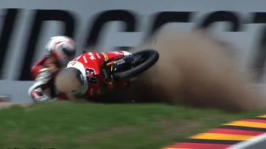 Sachsenring 2011 - 125cc - QP - Sulfahmi Khairuddin - Crash